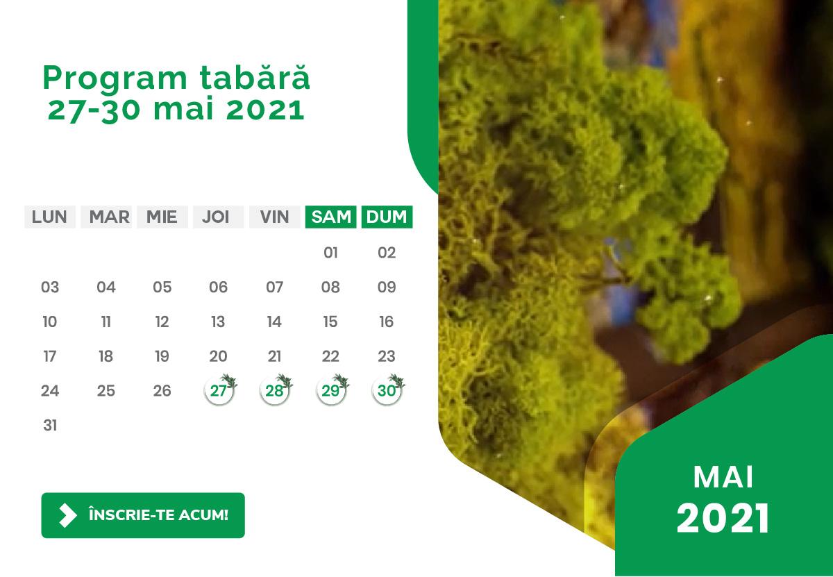 Program Tabara Detox - Luna Mai 2021