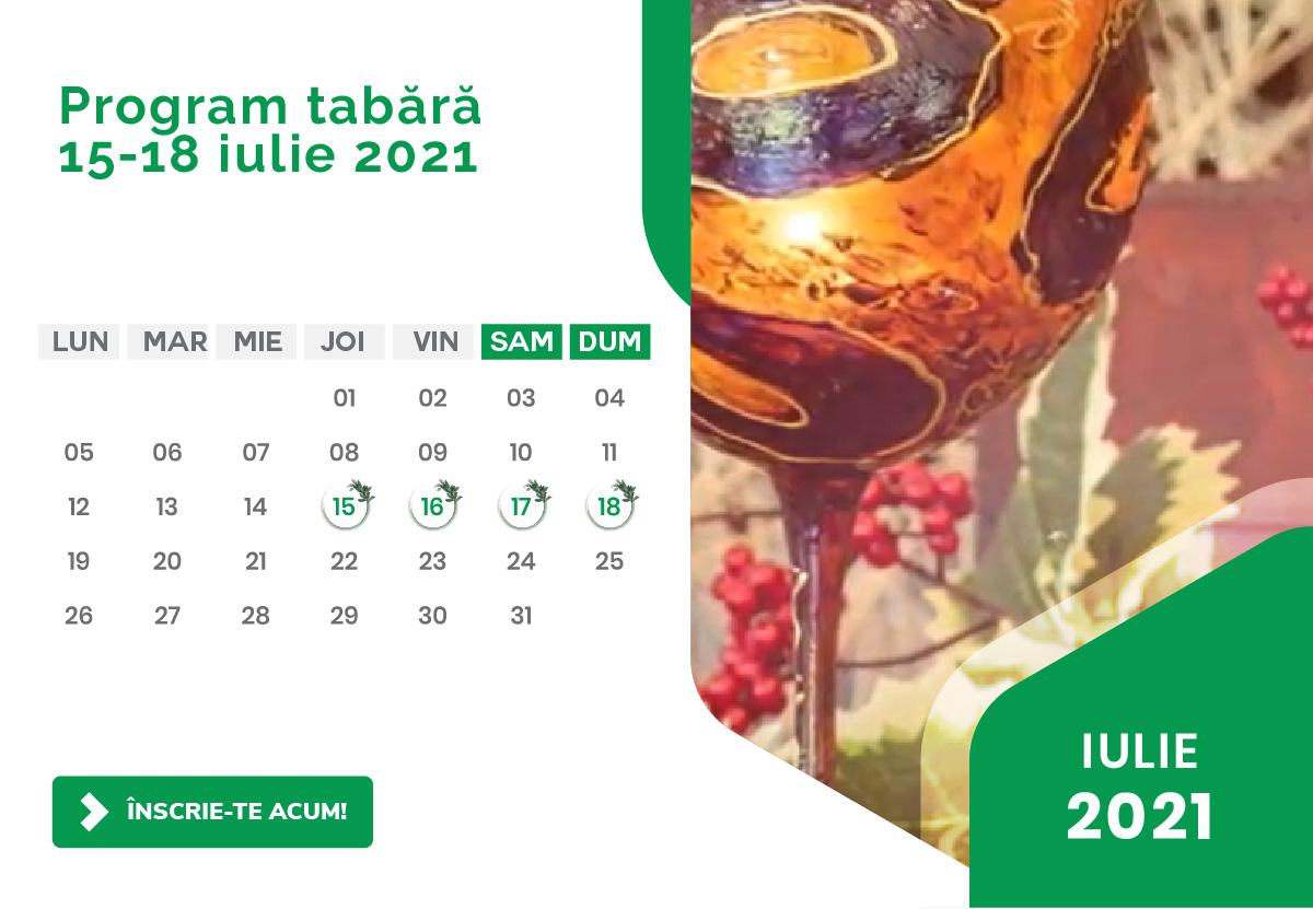 Program Tabara Detox - Luna iulie 2021